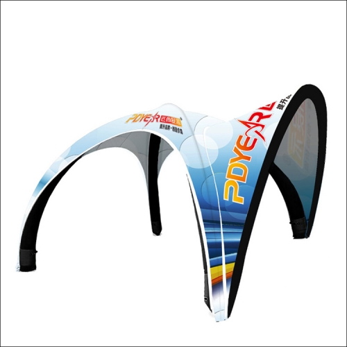 Trade Show Inflatable Tent with custom print cover & awning